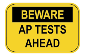 Beware AP Test Sign