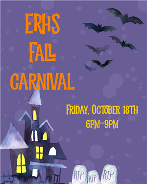 haunted house with bats and carnival Info