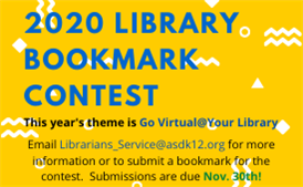 2020 Library Bookmark Contest