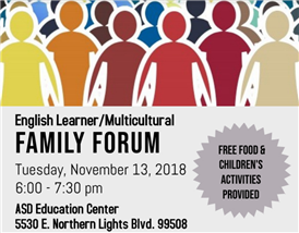 English Learner/Multicultural Family Forum