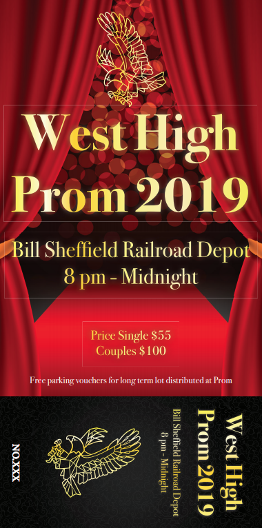 West High 2019 prom ticket