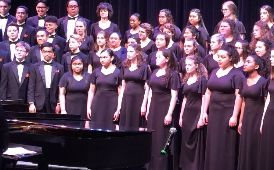 West/Romig choir performance