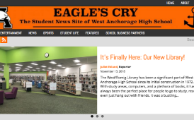 screenshot of the online West High newspaper, the Eagle's Cry