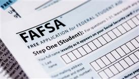 image of the top left corner of the FAFSA form