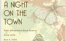 invitation to West High prom 2018