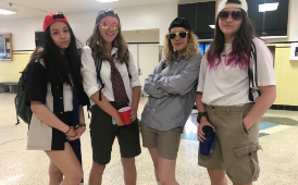 four West students pose during 2017's homecoming spirit week