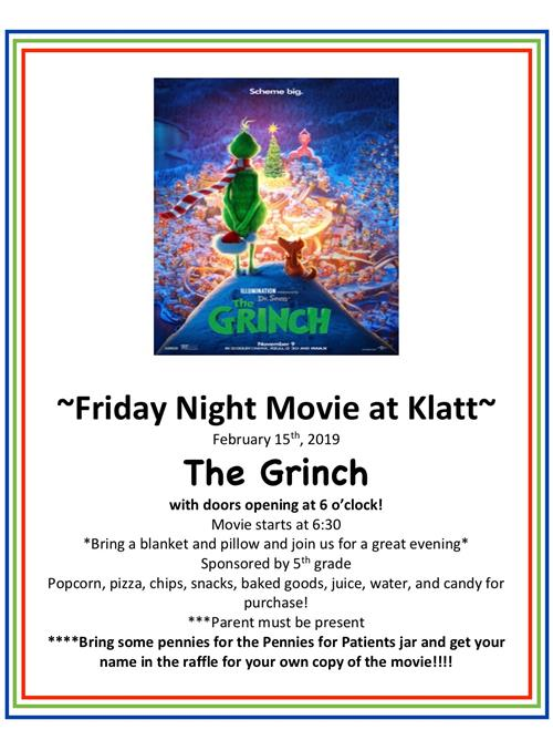 Movie Night, Friday, February 15th @ 6:30pm