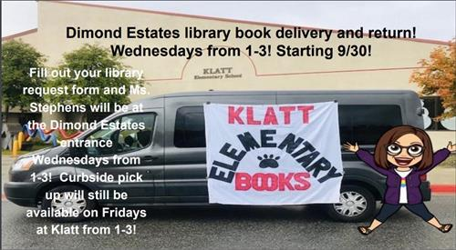 Ms. Stephens Mobile Library at Dimond Estates, On Wednesdays from 1-3pm