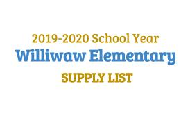 williwaw school supply list